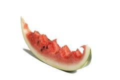 Skiva av vattenmelon med tuggor Royaltyfri Bild