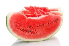 Skiva av vattenmelon på vit Royaltyfria Bilder