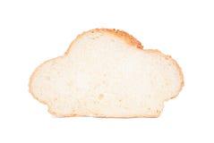 Skiva av vitt bröd med sesamfrö Arkivfoton