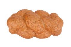 Skiva av vitt bröd med sesamfrö Royaltyfri Foto