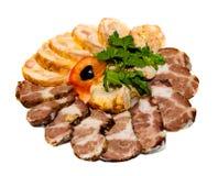 skiva för meat Arkivbilder