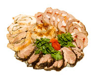 skiva för meat Royaltyfria Bilder