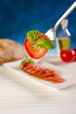 skiva tomaten royaltyfria foton