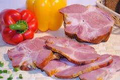 skivad bacon arkivbilder