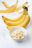 skivad banan royaltyfria bilder