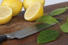 Skivad citron Arkivfoto