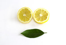 Skivad citron Royaltyfria Bilder