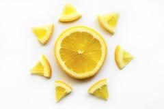 skivad citron Fotografering för Bildbyråer