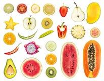 skivad frukt royaltyfri fotografi