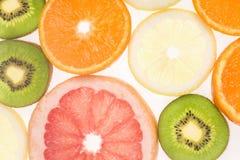 Skivad fruktbakgrund Arkivfoton