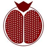Skivad granatäpplesymbol, gemkonst stock illustrationer