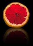 skivad grapefrukt Arkivfoton