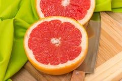 skivad grapefrukt Royaltyfri Bild