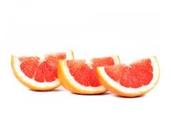 skivad grapefrukt Fotografering för Bildbyråer