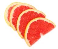 Skivad grapefrukt som isoleras på vit bakgrund Top beskådar royaltyfri bild