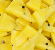 Skivad gul vattenmelon Royaltyfria Bilder