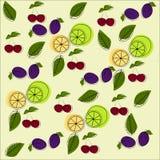 skivad half ananas för bakgrundssnittfrukt vektor illustrationer