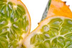 skivad horned saftig melon Royaltyfri Fotografi