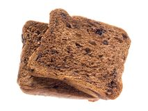 Skivad isolerad brödchoklad Royaltyfri Bild
