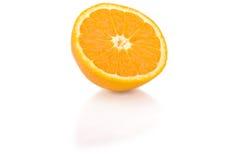 skivad isolerad orange Fotografering för Bildbyråer