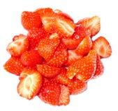 skivad jordgubbe Arkivfoto