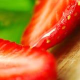skivad jordgubbe Arkivbild