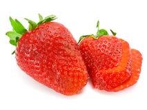 skivad jordgubbe Arkivfoton