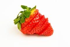 skivad jordgubbe Royaltyfria Bilder
