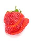 skivad jordgubbe Fotografering för Bildbyråer