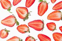 skivad jordgubbe Skivor seamless jordgubbe Makro textur Arkivbild