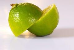 skivad limefrukt Arkivbilder