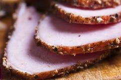 skivad meat Royaltyfria Bilder