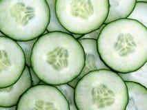 skivad ny green för gurka Arkivfoton