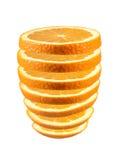 skivad ny orange Fotografering för Bildbyråer