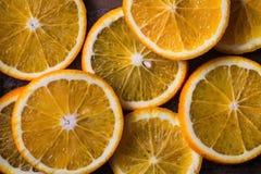 skivad orange Arkivbilder