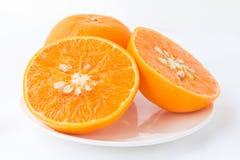 Skivad orange frukt Arkivfoto