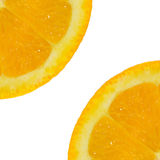 Skivad orange fruktbakgrund Royaltyfri Foto