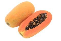 skivad papaya Arkivfoto