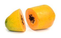 skivad papaya Royaltyfria Foton