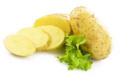 Skivad potatis royaltyfria foton