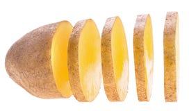 Skivad potatis royaltyfria bilder