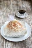 Skivad rå fryst fisk med is Royaltyfria Foton