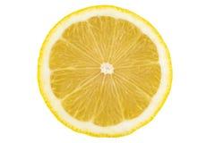Skivad saftig citron royaltyfri foto