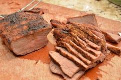 Skivad Tri spets för nötkött royaltyfri bild