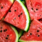 Skivad vattenmelon royaltyfria bilder