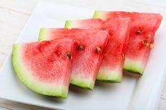 Skivad vattenmelon Royaltyfri Fotografi