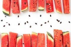 Skivad vattenmelon Fotografering för Bildbyråer