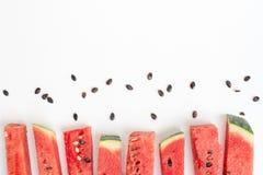 Skivad vattenmelon Arkivfoton
