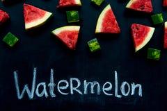 Skivad vattenmelon på vit bakgrund Royaltyfri Foto