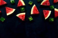 Skivad vattenmelon på vit bakgrund Royaltyfri Bild